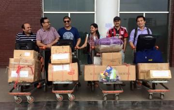 Raju and Sheela leaving Dhaka for Kathmandu