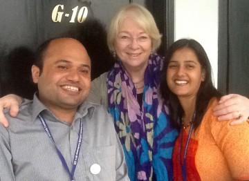Renee with Raju and Sheela