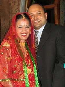 The happy couple: Raju and Sheela
