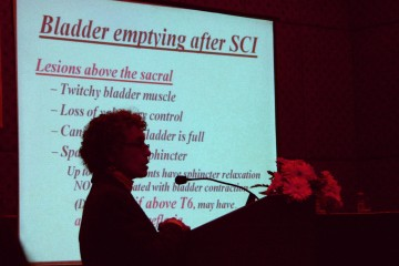 Dr Claire Weeks describes the urological consequences of spinal cord injury at the ASCoN meeting in Kathmandu